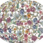 Juego de 6 bajoplatos con estampado floral de hortensias